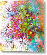 abstract art COLOR SPLASH on Square Metal Print