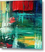 Abstract Art Colorful Original Painting Bold And Beautiful By Madart Metal Print