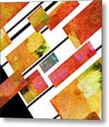 abstract art Homage to Mondrian Metal Print
