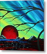 Abstract Art Landscape Seascape Bold Colorful Artwork Serenity By Madart Metal Print