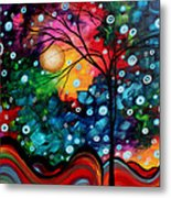 Abstract Art Landscape Tree Painting Brilliance In The Sky Madart Metal Print