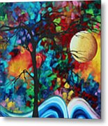 Abstract Art Original Enormous Bold Painting Essence Of The Earth I By Madart Metal Print by Megan Duncanson