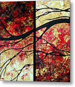Abstract Art Original Landscape Painting Bring Me Home By Madart Metal Print by Megan Duncanson