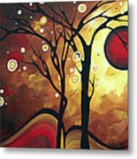 Abstract Art Original Landscape Painting Catch The Rising Sun By Madart Metal Print