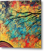 Abstract Art Original Landscape Painting Go Forth I By Madart Studios Metal Print