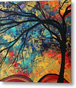 Abstract Art Original Landscape Painting Go Forth II By Madart Studios Metal Print