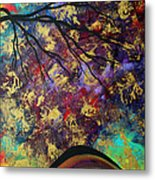 Abstract Art Original Landscape Painting Go Forth IIi By Madart Studios Metal Print