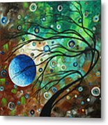 Abstract Art Original Landscape Painting Mint Julep By Madart Metal Print