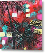 Abstract Art Original Tropical Landscape Painting Fun In The Tropics By Madart Metal Print by Megan Duncanson