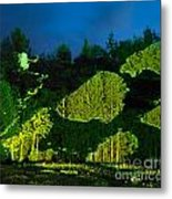 Abstract Art Projection Over Night Nature Scenery Metal Print