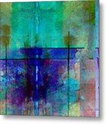 abstract - art- Rhapsody in Blue Metal Print by Ann Powell