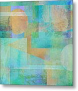 abstract art Tahitian Blue Metal Print