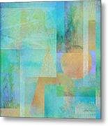 abstract - art- Tahitian Blue Square Metal Print