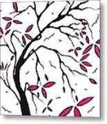 Abstract Artwork Modern Original Landscape Pink Blossom Tree Art Pink Foliage By Madart Metal Print by Megan Duncanson