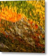 Abstract Autumn Reflections  Metal Print