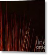 Abstract Background Of Red Sticks Metal Print