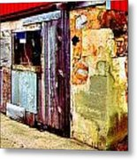 Abstract Barn Base Metal Print