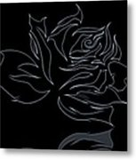 Abstract Black Rose  Metal Print