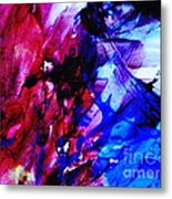 Abstract Blue And Pink Festival Metal Print by Andrea Anderegg