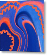 Abstract Blue Bird Metal Print
