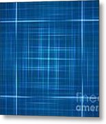 Abstract Blue Metal Print