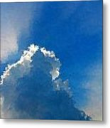Abstract Blue Sky And Cloud Metal Print