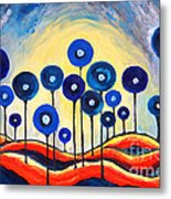 Abstract Blue Symphony  Metal Print