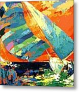 Abstract Boat Ride  Metal Print