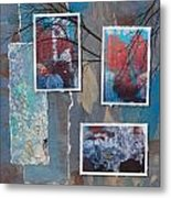 Abstract Branch Collage Trio Metal Print