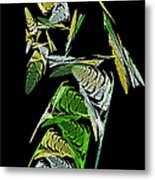Abstract Bugs Vertical Metal Print