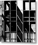 Abstract Building Fascade With Light And Shadow Metal Print