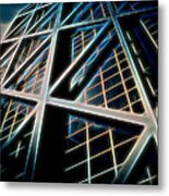 Abstract Buildings Metal Print