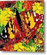 Abstract Butterfly #3 Autumn Metal Print