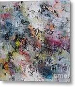 Abstract Butterfly Dragonfly Painting Metal Print