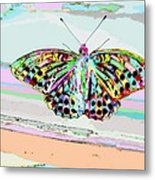 Abstract Butterfly Metal Print