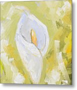 Abstract Calla Lily Metal Print