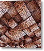 Abstract Ceiling Stone Construction  Metal Print