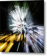 Abstract Christmas Lights - Burst Of Colors Metal Print