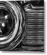 Abstract Chrome Metal Print