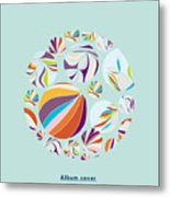 Abstract Circles Background -  With Metal Print