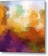 Abstract Cityscape Cubic Metal Print