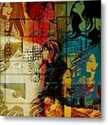 Abstract Collage 01 Metal Print