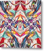 Abstract Color Mix Metal Print