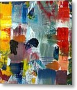 Abstract Color Relationships Lv Metal Print