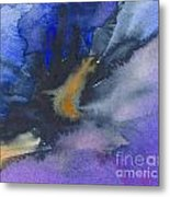 Abstract Color Splash Metal Print