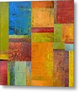 Abstract Color Study Collage Ll Metal Print