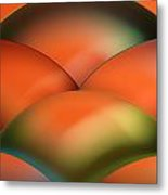 Abstract Colored Paper Structure On Orange Background Metal Print
