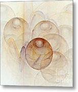 Abstract Colorful 3d Bubbles Fractal  Metal Print
