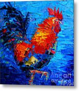 Abstract Colorful Gallic Rooster Metal Print