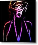 Abstract Colorful Monroe Metal Print